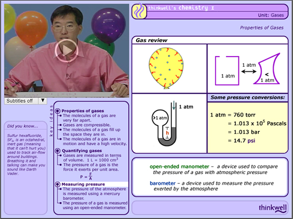 Image of Chemistry Video.