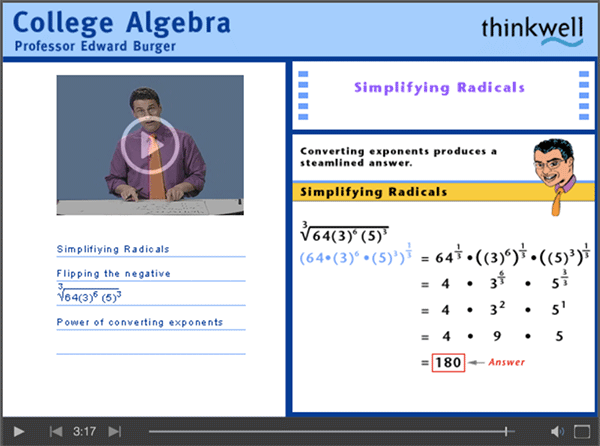 College Algebra with Professor Edward Burger
