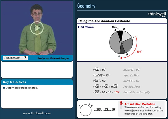Image of Thinkwell Geometry video.