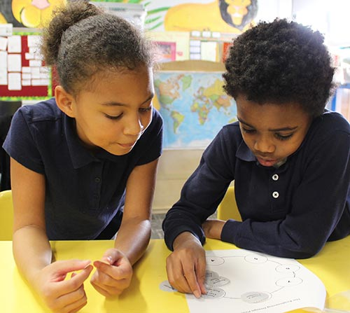 Baltimore City public school students in classroom