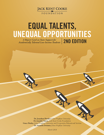 Equal Talents, Equal Opportunities, Second Edition: A Report Card on State Support for Academically Talented Low-Income Students report cover