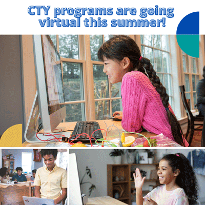 CTY Programs are going virtual this summer!