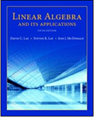 Picture of Linear Algebra text book cover.