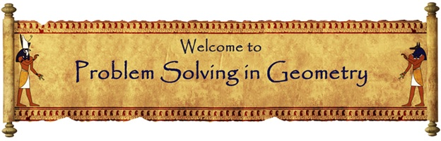 "Image of banner saying ""Welcome to Problem Solving in Geometry."""