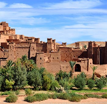 desert buildings in morocco