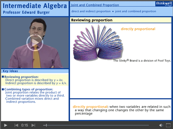 Intermediate Algebra with Professor Edward Burger sample video