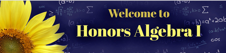 Honors Alg 1 Banner