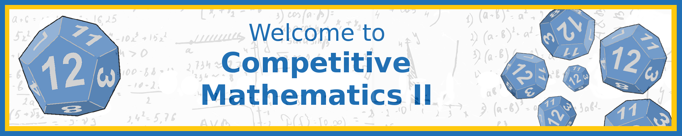 Welcome to Competitive Mathematics II